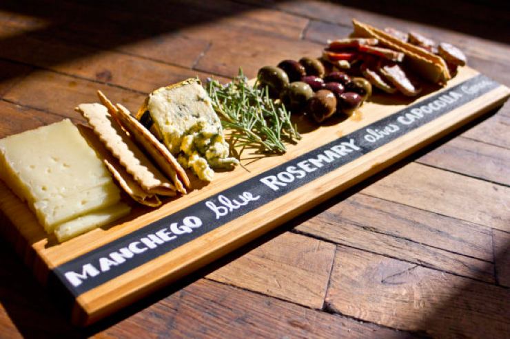 chalkboard cheese tray
