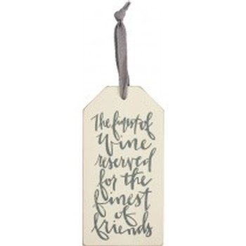 Bottle Tag Finest of Friends Cursive Image