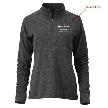 Womens 1/4 Zip Swerve Charcoal