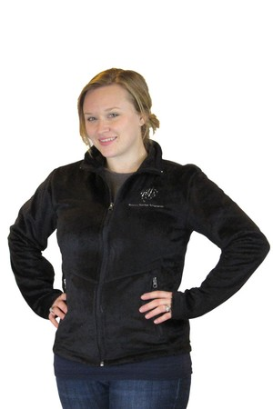 Womens M Luxe Black Fleece Jacket