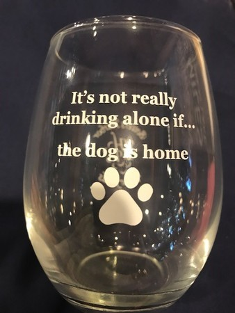 Drinking Alone Stemless Glass