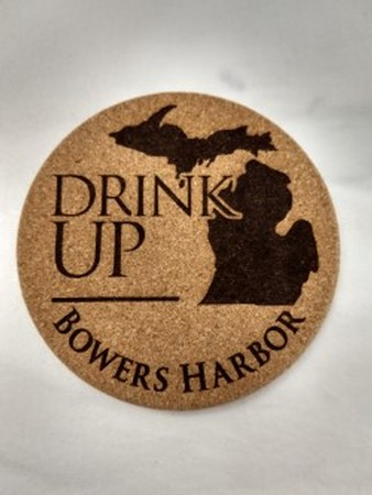 Coaster Cork Drink Up