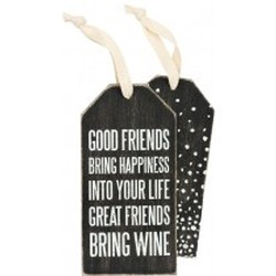 Bottle Tag Great Friends Bring Wine