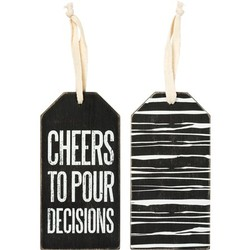 Bottle Tag Cheers to Pour Decisions