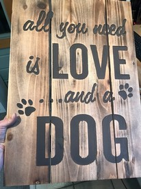 Love and Dog Sign