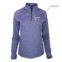 Womens 1/4 Zip Swerve Periwinkle