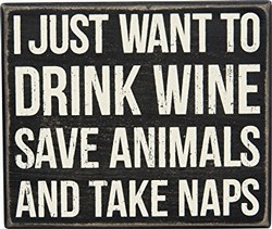 Box Sign Drink Wine Save Animals